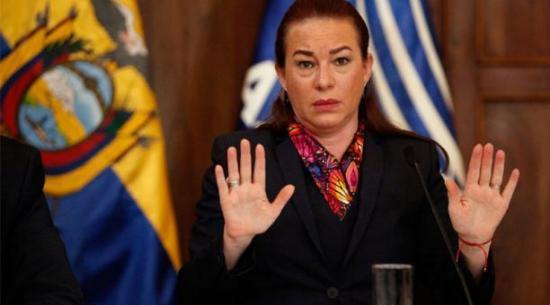Comisión legislativa de Ecuador pide juicio político a excanciller María Fernanda Espinosa