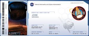 La NASA ofrece al público ''pasajes'' simbólicos a Marte