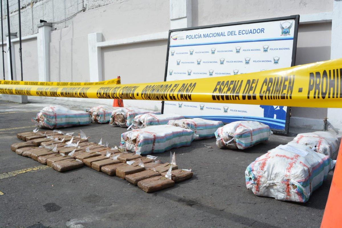 Ecuador incauta 120 kilos de cocaína que tenían como destino a Chile
