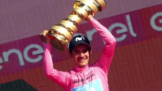 Richard Carapaz, flamante ganador del Giro, llega a Ecuador