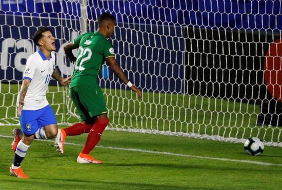 Brasil vence 3-0 a Bolivia en el primer partido de la Copa América