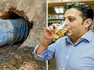 Hombre cavó un túnel durante 15 años desde su casa hasta un bar