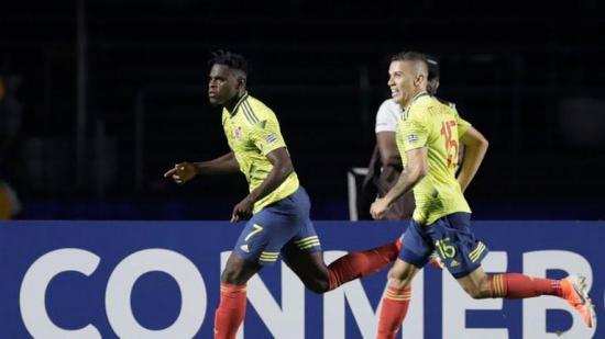 Colombia, la primera clasificada a cuartos de final tras vencer a Catar con tanto de Zapata