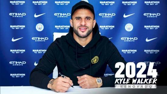 Kyle Walker renueva hasta 2024 con el Manchester City