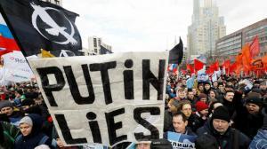 Protestas en Moscú contra falsificación de casos penales