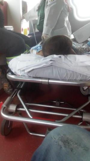 Una bebé se cayó  de un segundo piso