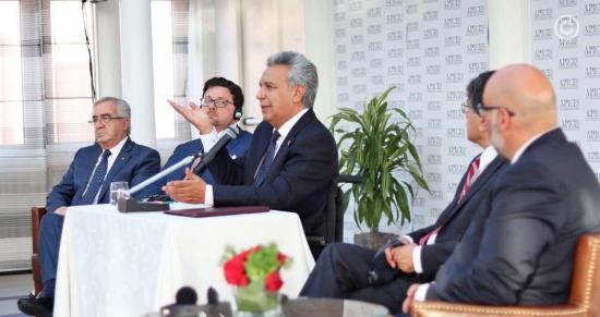 Moreno dice que aún pueden recibir venezolanos pero que todo tiene un límite