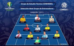 Cinco brasileños, dos peruanos y un argentino en equipo ideal de Copa América
