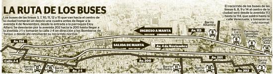 Manta: Buses urbanos tendrán nuevo recorrido por el Par Vial