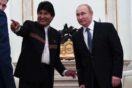Putin y Morales afianzan nexos