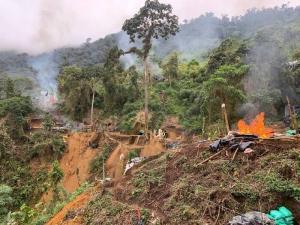 Identifican afectaciones ambientales en mina ilegal en la provincia de Imbabura