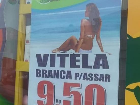 Retiran en Portugal el anuncio de una carnicería que usaba a mujer en bikini