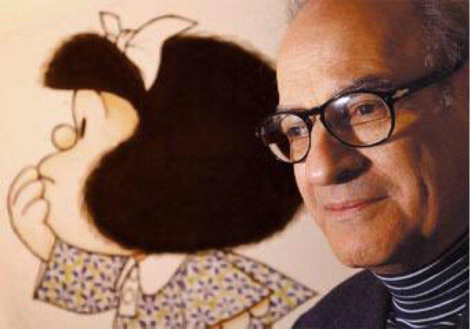 Quino, el creador de Mafalda, festeja su 87 cumpleaños rodeado de su familia