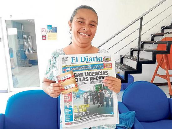 María se llevó el premio acumulado de El Diario