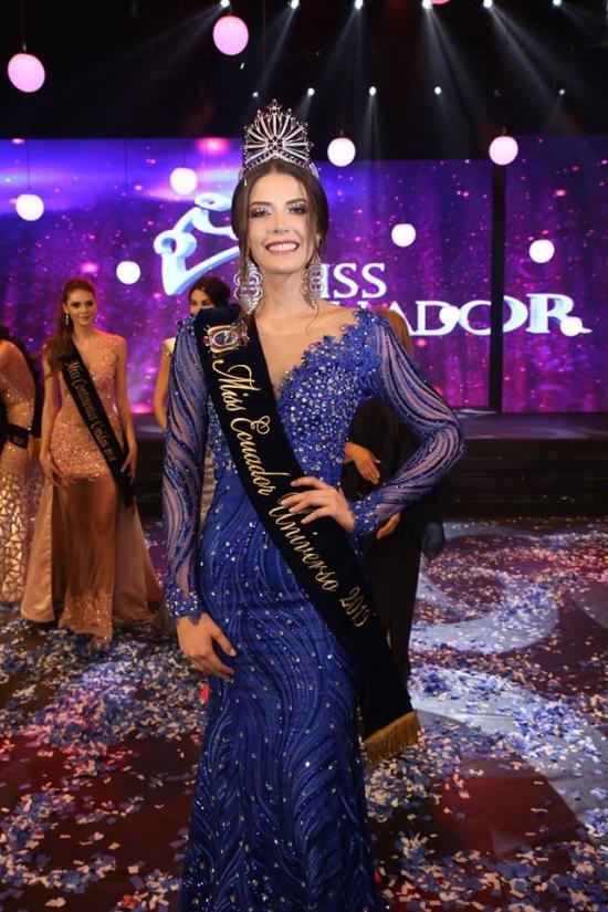 Cristina Hidalgo de Guayaquil fue electa como la nueva Miss Ecuador Universo