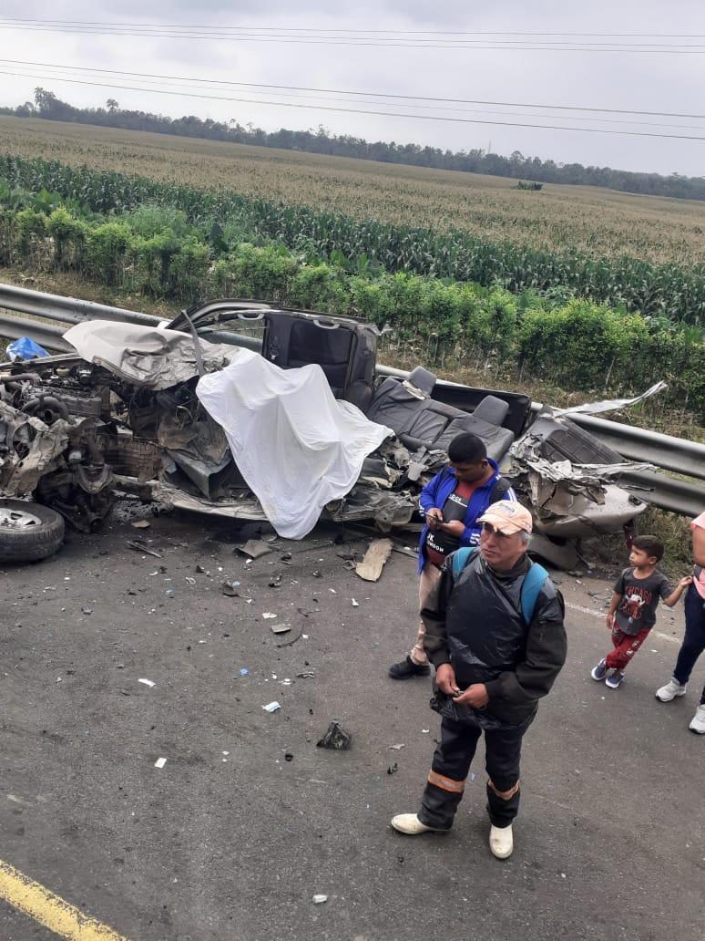 Accidente de transito decapitó a hombre en la vía Fumisa-Los Ángele