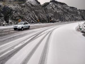 Cae nieve en Papallacta, provincia de Napo