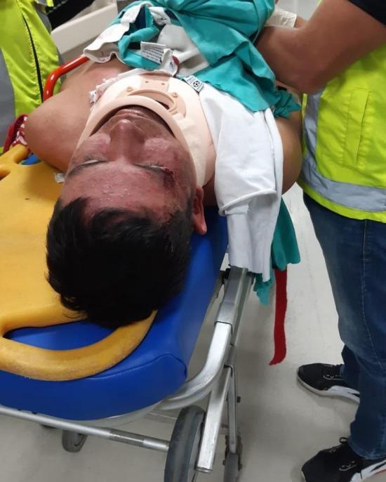 Encuentran a hombre herido en la carretera América y Olmedo en Portoviejo.