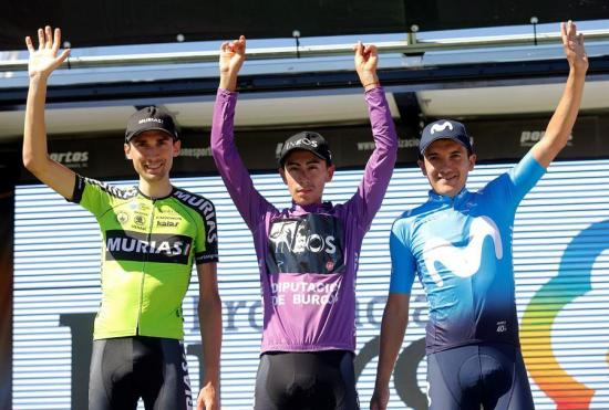 El ecuatoriano Richard Carapaz se queda con el tercer lugar de la Vuelta a Burgos