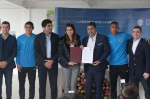 Boca Juniors firma convenio para cooperación social en Ecuador