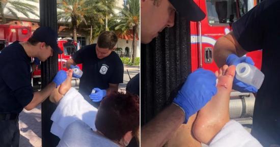 Niño de 12 años es mordido por un tiburón en una playa de Florida