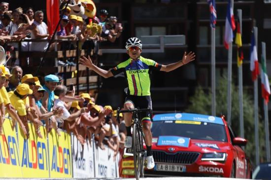 Jefferson Alexander Cepeda gana la décima etapa del Tour de I'Avenir