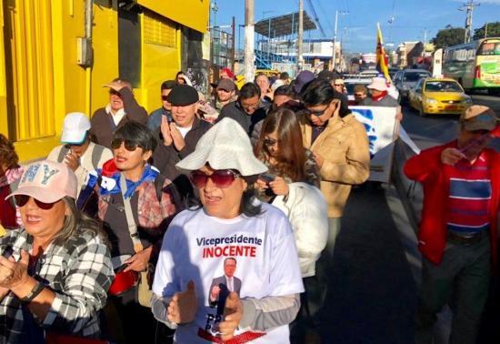 Seguidores de Jorge Glas iniciaron 'marcha de la indignación'