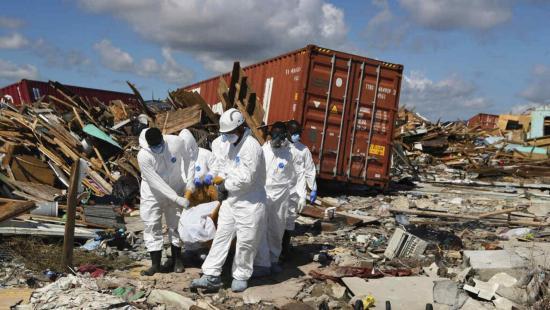 Sube a 50 la cifra de muertos por el paso del huracán Dorian en las Bahamas
