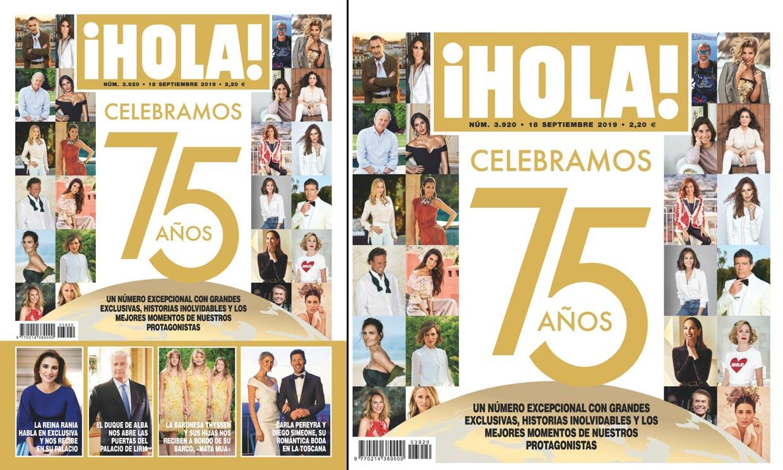 La revista ¡Hola! celebra su aniversario 75 con una edición especial