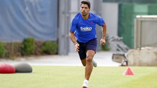 Luis Suárez se reincorpora a los entrenamientos; Messi, no