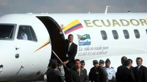 Correa fue notificado con una glosa de 9 millones de dólares por el uso de los aviones presidenciales