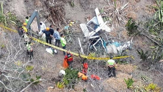 Helicóptero se estrelló en Ibarra y deja dos personas fallecidas
