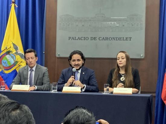 Michelena dice que ''la información de todos los ecuatorianos está protegida y resguardada''