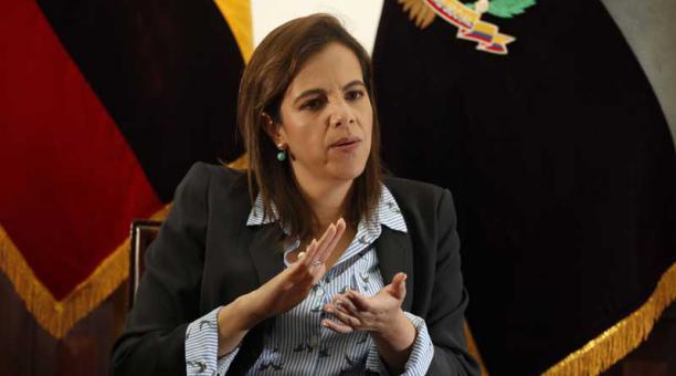 María Paula Romo calificó de 'muy grave' la posible vulneración de datos de ecuatorianos