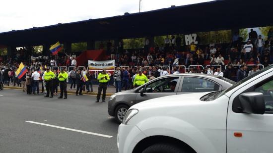 Tribuna de los Shyris en Quito, escenario de la manifestación por la paz