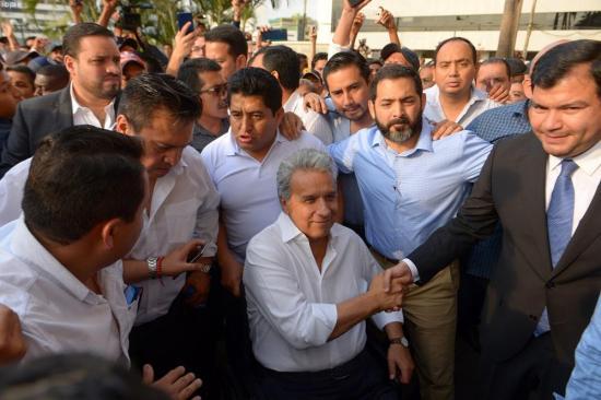 Autoridades de poderes del Estado apoyan a Moreno y piden diálogo en Ecuador