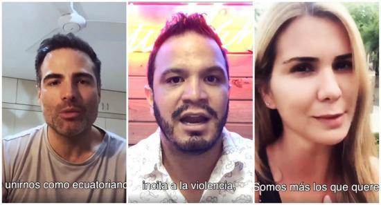 Actores ecuatorianos se unen para pedir un Ecuador de paz