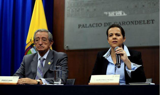 Ministra Romo anuncia que el presidente Lenín Moreno viajará esta tarde a Quito