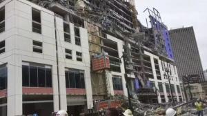 Al menos 13 heridos al derrumbarse la fachada de un hotel en construcción en Nueva Orleans