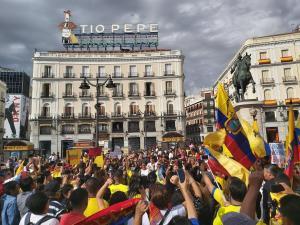 Ecuatorianos protestan en Madrid contra la ''represión'' indígena en su país