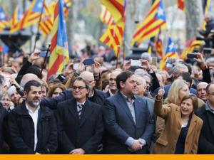 Líderes independentistas catalanes, a la cárcel