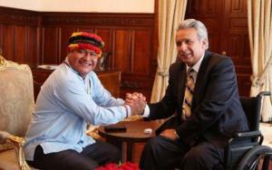 Presidente de la CONAIE le pide disculpas a Moreno por llamarlo 'patojo' durante las protestas