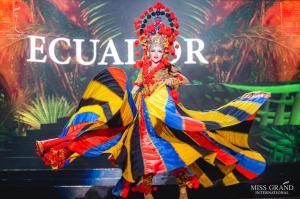 La ecuatoriana Mara Topic causa furor en el Miss Grand Internacional con traje típico