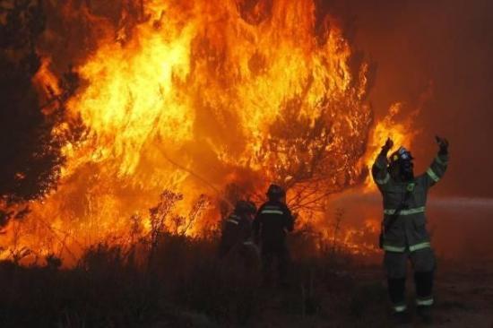 Varios incendios consumen cerca de 2.500 hectáreas en el centro de Chile