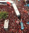 Flamengo viaja a Lima animado por miles de hinchas que piden la Libertadores