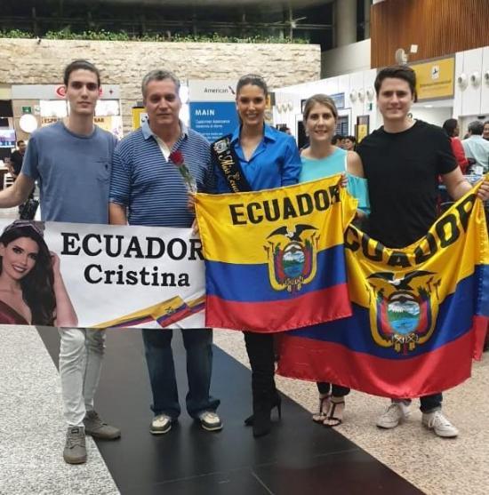 Cristina Hidalgo Berry inicia su camino en el Miss Universo