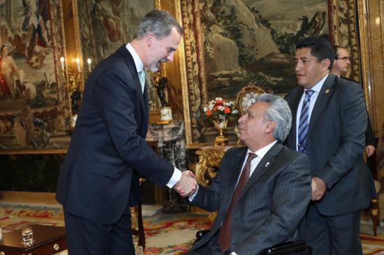 Felipe VI se reúne con los presidentes de Ecuador y República Dominicana