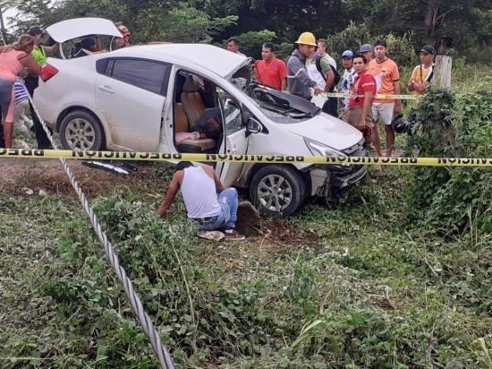 Hombre muere en un accidente de tránsito en la vía Chone-Flavio Alfaro