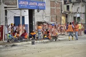 Obreros del consorcio Zona Cero se paralizan por falta de pago