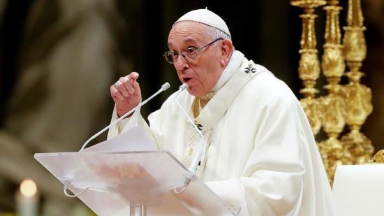 El papa advierte que la 'corrupción del corazón' es 'el peligro más grave'